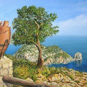 Πίνακας ζωγραφικής Greek landscape