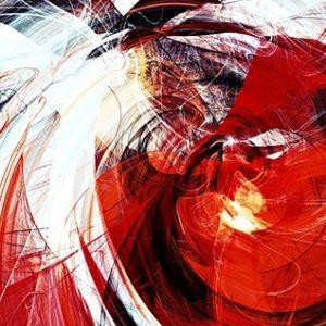 Πίνακας ζωγραφικής Red abstract