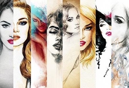 Πίνακας ζωγραφικής Faces