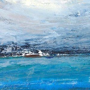 Πίνακας ζωγραφικής Blue abstract