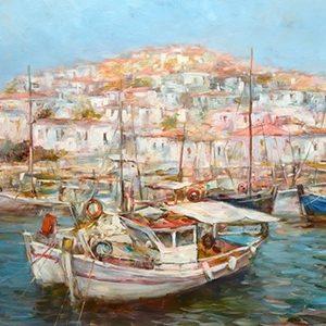 Πίνακας ζωγραφικής Fishing boats