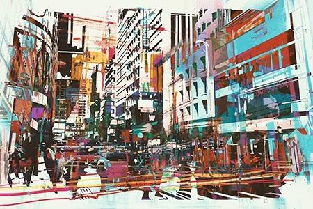Πίνακας ζωγραφικής City life