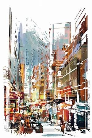 Πίνακας ζωγραφικής City life II