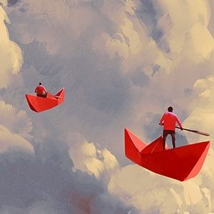 Paperboats in the clouds