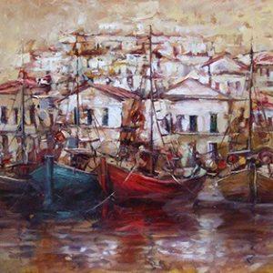 Πίνακας ζωγραφικής Fishing boats II