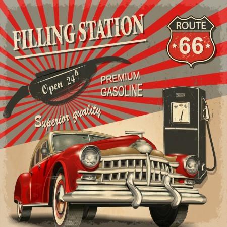 Πίνακας ζωγραφικής Vintage car II