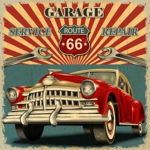 Πίνακας ζωγραφικής Vintage car III