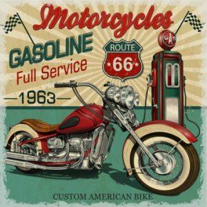 Πίνακας ζωγραφικής Vintage motorcycle