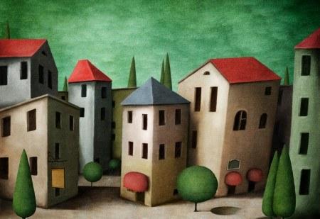 Πίνακας ζωγραφικής Houses