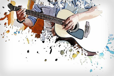 Πίνακας ζωγραφικής Playing guitar