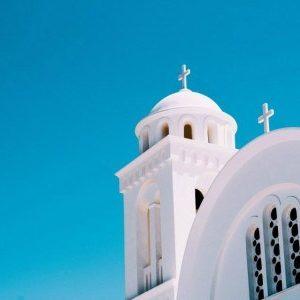 Πίνακας ζωγραφικής White island church