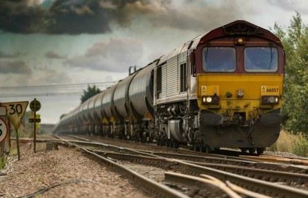 Πίνακας ζωγραφικής Yellow train