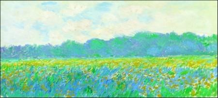 Πίνακας ζωγραφικής Claude Monet - Champ Iris Jaunes A Giverny