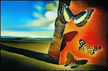 Πίνακας ζωγραφικής Salvador Dalí - Paysage Aux Papillons