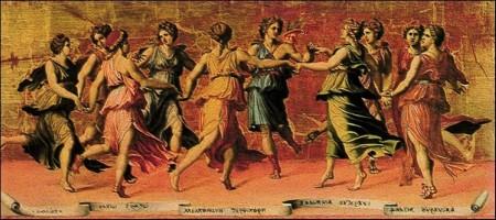 Giulio Romano Apollo E Le Muse