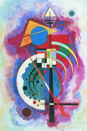 Πίνακας ζωγραφικής Wassily Kandinsky - Omaggio a Grohmann