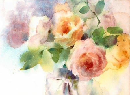 Πίνακας ζωγραφικής Watercolor flowers
