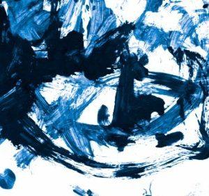 Πίνακας ζωγραφικής Blue abstract II