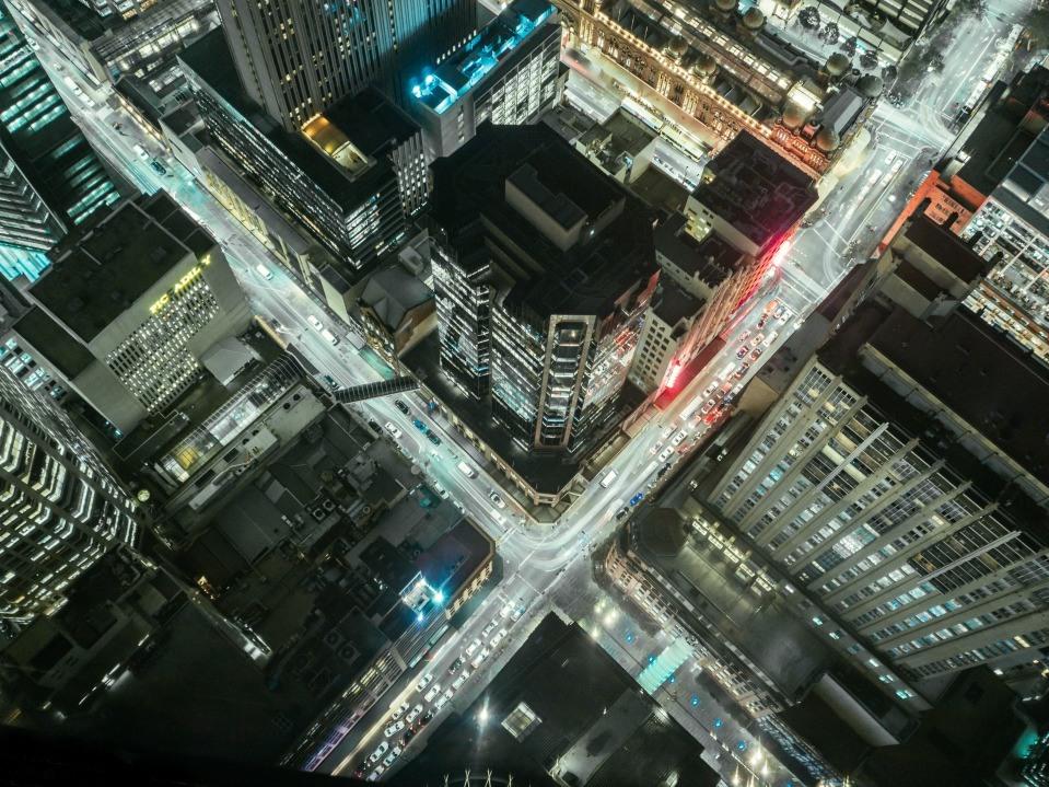 Upside city view